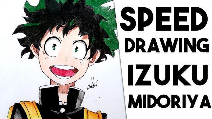 """Speed Drawing – Izuku Midoriya """"Deku"""" (Boku no Hero Academia)"""