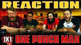 "One Punch Man 1×1 REACTION!! ""The Strongest Man"""