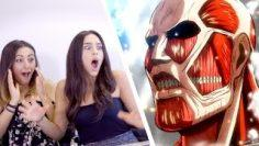 North Americans React to ANIME   老外第一次看動漫 (Attack on Titan, Food Wars, Sword Art Online)
