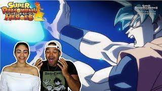 SUPER SAIYAN BLUE VS SUPER SAIYAN 4!? Dragon Ball Heroes Episode 1 Reaction / Review