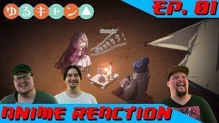 KEEPING WARM WITH RIN | Anime Reaction: Yuru Camp△ Ep. 01