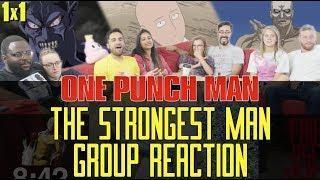 One Punch Man – 1×1 The Strongest Man – Group Reaction