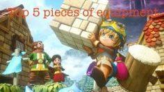 Top 5 Pieces Of Equipment In Dragon Quest Builders!!!
