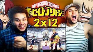 "REACTION   ""My Hero Academia 2×12"" – Bakugo Vs Todoroki"