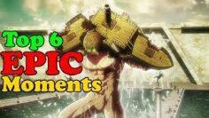 Top 6 EPIC Attack on Titan season 3 part 2 moments