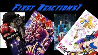 1st Reactions! (Lupin, Cutie Honey, Fist of the Blue Sky, Megalo Box, Legend of Galactic Heroes)
