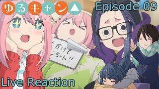 Yuru Camp△ Episode 9 Live Reaction (Re-upload)