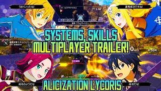 Sword Art Online Alicization Lycoris Skills, Systems, Multiplayer Trailer | SAO Wikia Translation