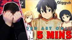 Sword Art Online IN 5 MINUTES REACTION | Anime in Minutes