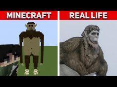 Attack On Titan VS Minecraft – ALL Titans in REAL LIFE