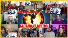 SAITAMA PUNCHES METEOR!! One Punch Man Reaction Mashup ワンパンマン