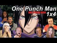 One Punch Man 1×4 Reactions | Great Anime Reactors!!! | 【ワンパンマン】【海外の反応】