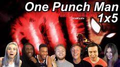 One Punch Man 1×5 Reactions | Great Anime Reactors!!! | 【ワンパンマン】【海外の反応】