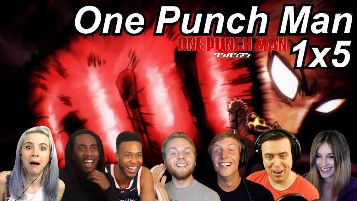 One Punch Man 1×5 Reactions   Great Anime Reactors!!!   【ワンパンマン】【海外の反応】